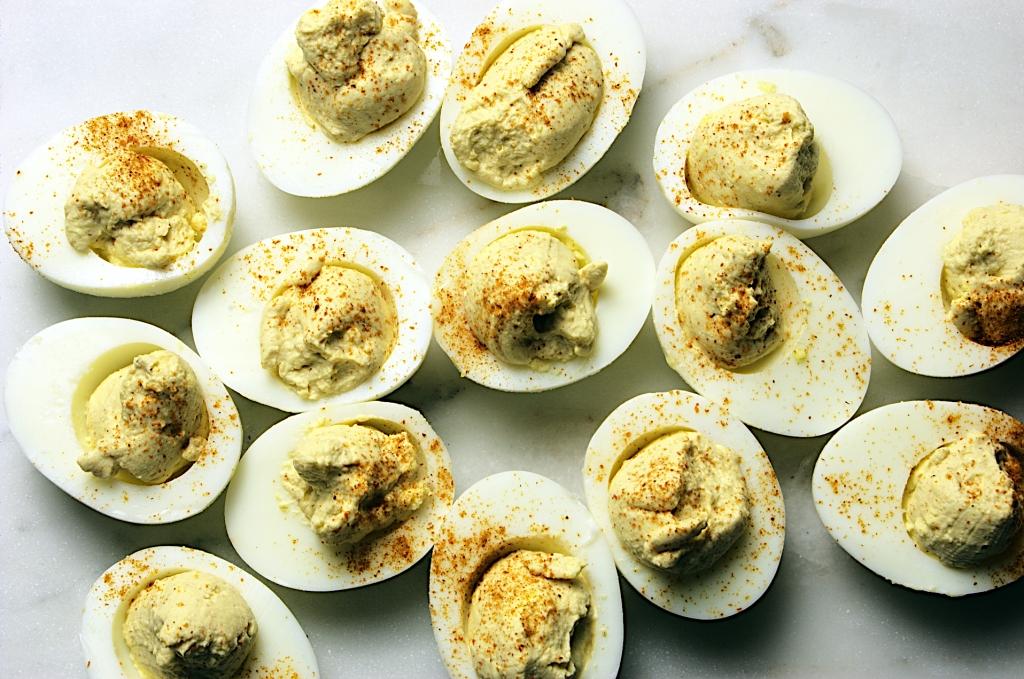 Lemon-Curry Deviled Eggs